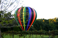 HOT AIR BALLOON LANDING IN OUR HAYFIELD SEPT 4, 2013